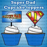 Super Dad Cupcake Toppers image SKGaleana