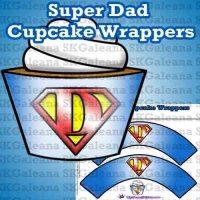 Super Dad Cupcake Wrappersr image SKGaleana copy