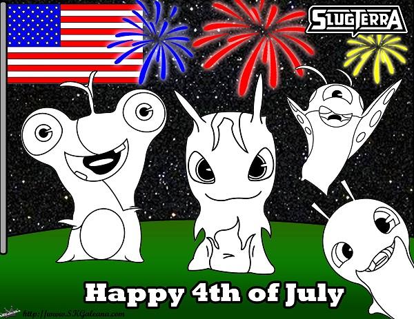 4th of July Slugterra coloring Page SKGaleana