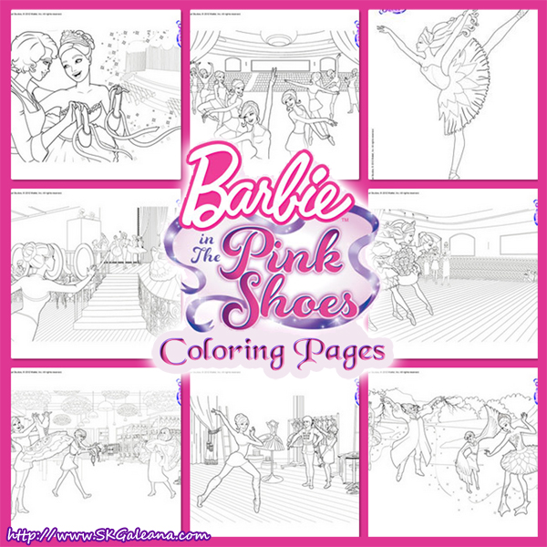 Barbie In Pink Shoes Coloring Pages