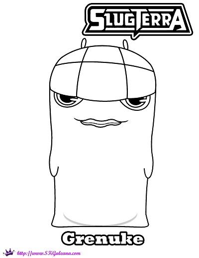 Free Slugterra Grenuke Printable Coloring Page! | SKGaleana