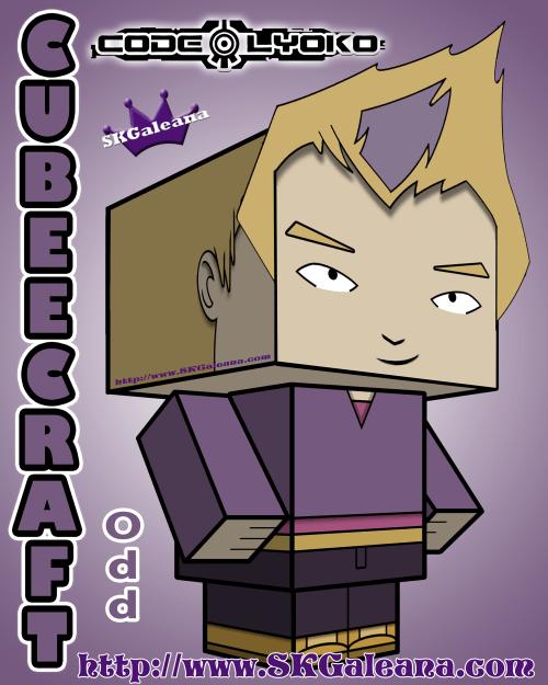 Code Lyoko Odd Cubeecraft 3D by SKGaleana