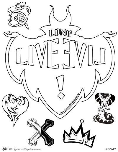Descendants Long Live Evil Coloring Page SKGaleana