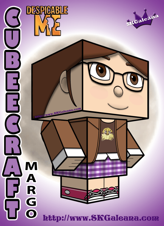Despicable Me Margo Cubeecraft 3D by SKGaleana