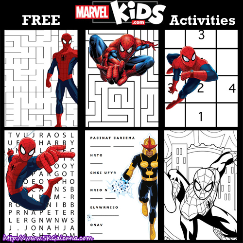 Marvel Kids Free Printable Activities