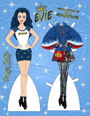 Paper dolls by Cory Evie from Descendants1