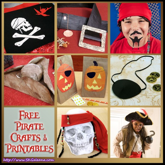 Free Pirate Crafts and Printables