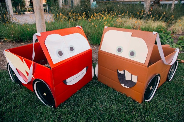 Lightning McQueen & Mater Box Car Costumes