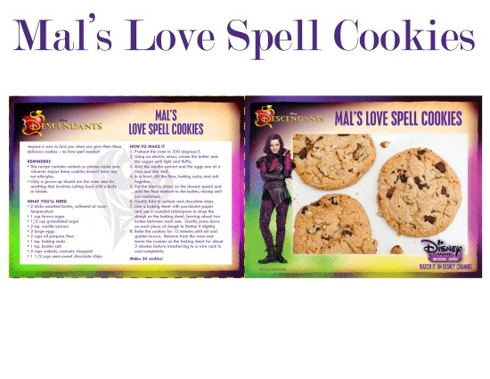 Mals Love Spell Cookies recipe card