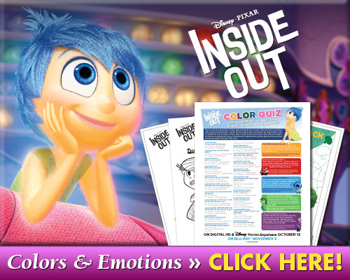 Inside out coloring pages and quiz