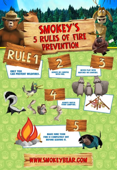 Camp Fire Safety Open Season Scared Silly