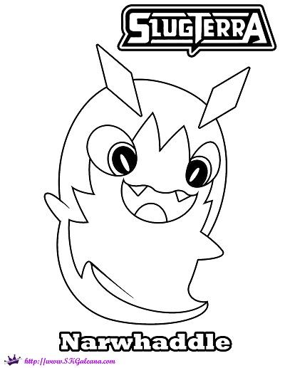 Narwhaddle Slugterra coloring Page SKGaleana copy
