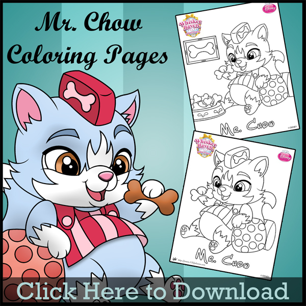 Whisker Haven Tales Coloring Page of Mr. Chow | SKGaleana
