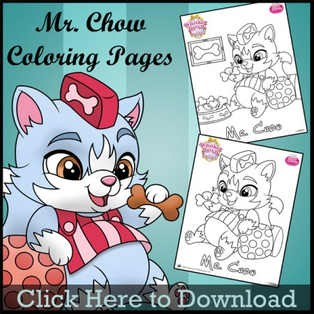 Whisker Haven Princess Palace Pets Mr Chow Coloring Pages SKGaleana