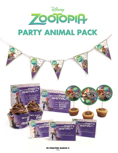 ZOOTOPIA Birthday Party Pack