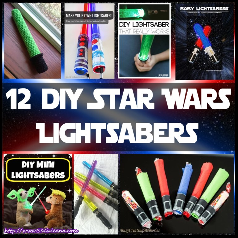 12 DIY Star Wars Lightsaber crafts