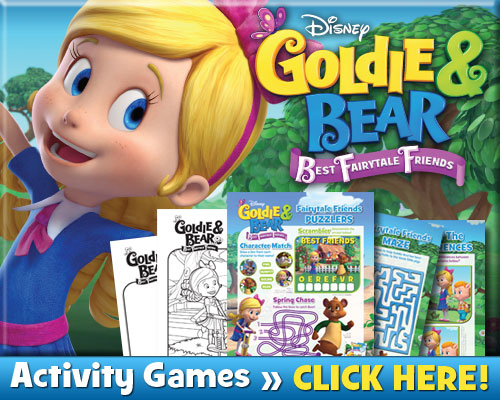Goldie and Bear free printable activities