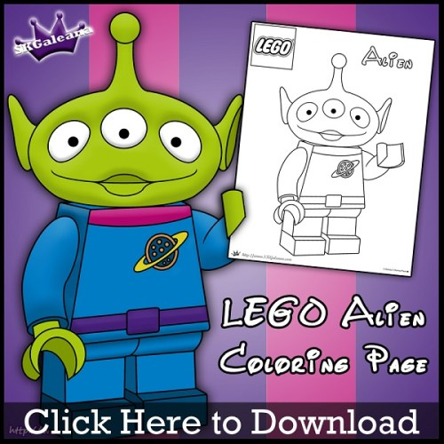 Lego Alien Coloring Page by SKGaleana Download image