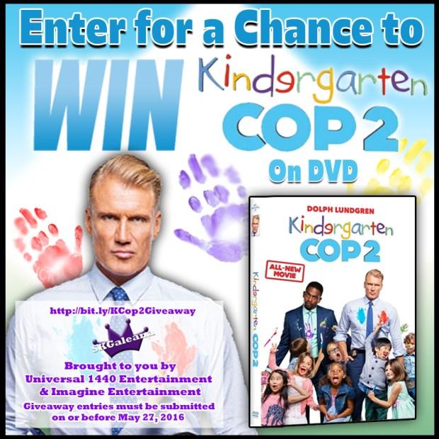 Kindergarten Cop 2 DVD Giveaway SKGaleana
