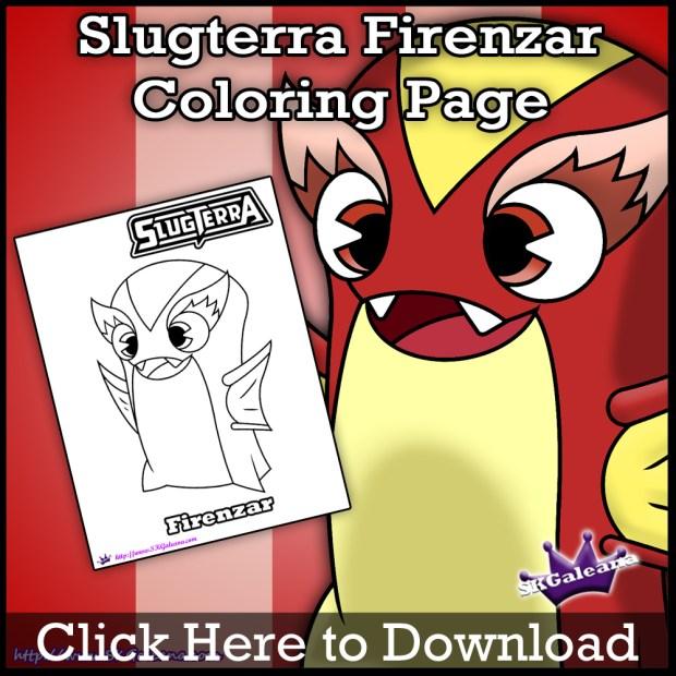 Firenzar Slugterra coloring Page SKGaleana download image