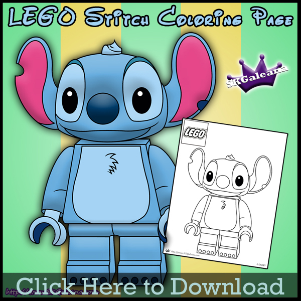 Free Lego Stitch Printable Coloring Page Skgaleana