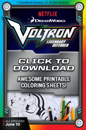 Voltron Printable Coloring page pack