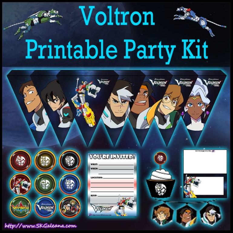 Voltron Printable Party Kit Image