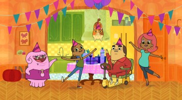 Tip throws Oh his very first birthday and Oh gets a crash course in secret-keeping when DreamWorks Home Adventures with Tip & Oh premieres on Netflix July 29.
