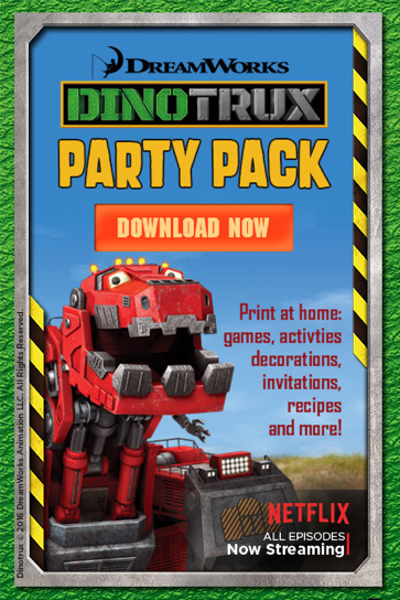 DinoTrux first Birthday Party Kit