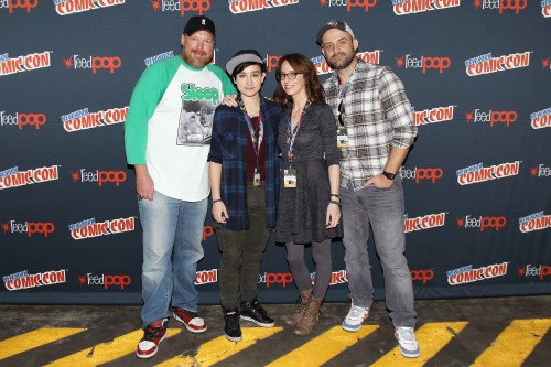 -  New York, NY - 10/7/16 - DreamWorks Voltron Legendary Defender at New York Comic Con Tim Hendrick, Bex Taylor-Klaus, Lauren Montgomery, Joaquim Dos Santos discusses the upcoming season of the Netflix original series DreamWorks Voltron Legendary Defender at New York Comic Con at Javits Center in New York City   -Pictured: Tim Hendrick, Bex Taylor-Klaus, Lauren Montgomery, Joaquim Dos Santos -Photo by: Patrick Lewis/Starpix