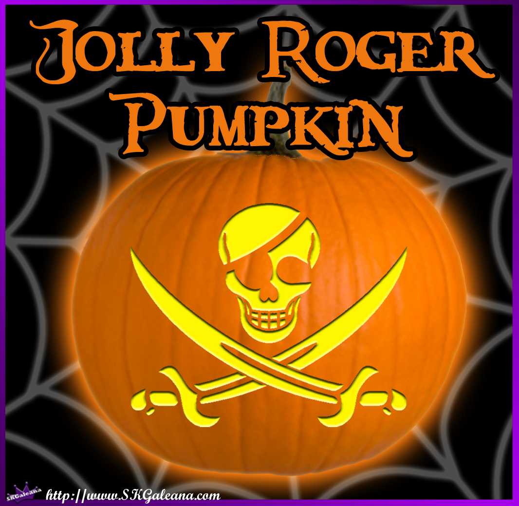 Printable Jolly Roger Pumpkin Template Skgaleana