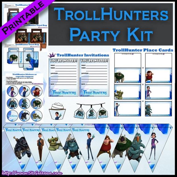 Printable Dreamworks Trollhunters Party Kit Skgaleana