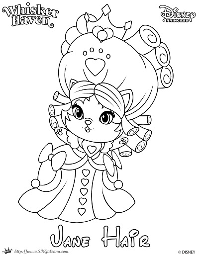 Whisker Haven Tales Coloring Page of Jane Hair - SKGaleana