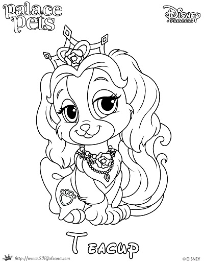 princess palace pet coloring page of teacup skgaleana