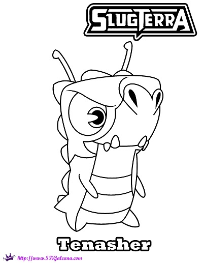 slugterra coloring pages of joules - photo#26