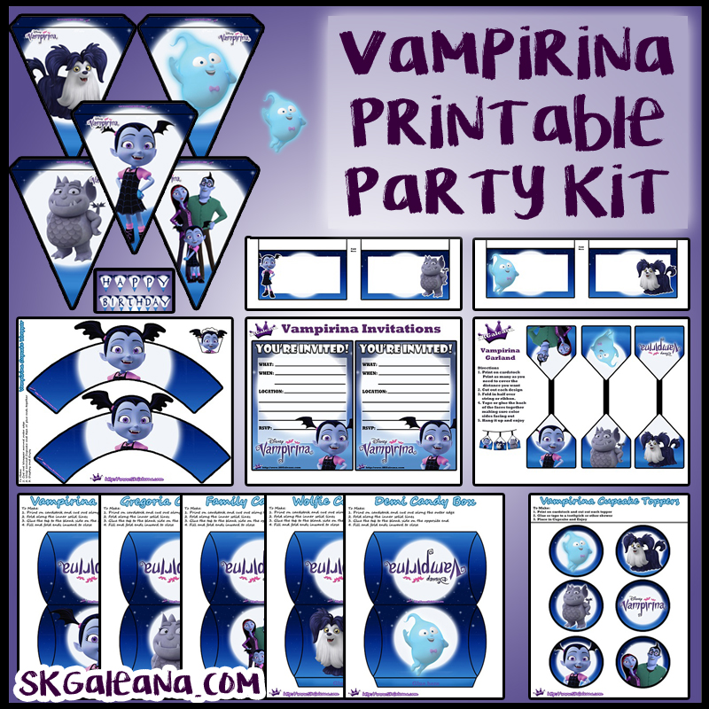 free disney junior vampirina printable party kit  u2013 skgaleana