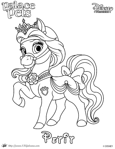 - Free Coloring Page Featuring Petit From Disney's Princess Palace Pets –  SKGaleana