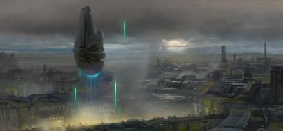Millennium Falcon Concept Art 8