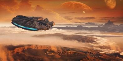 Millennium Falcon Concept Art 2