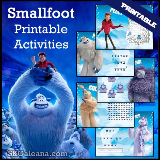 Free Smallfoot Movie Printables