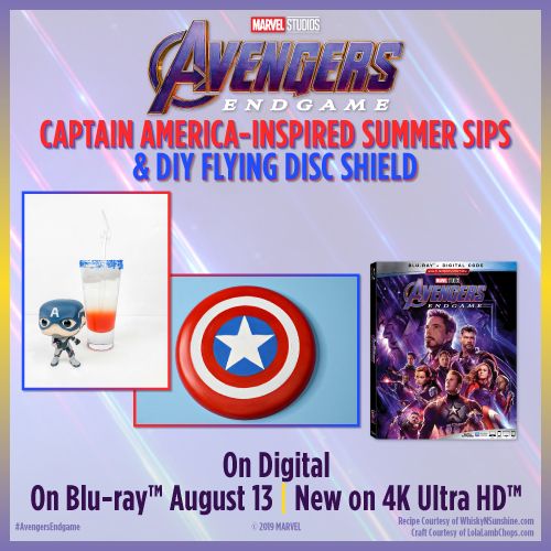 Captain America Summer sips recipe and craft