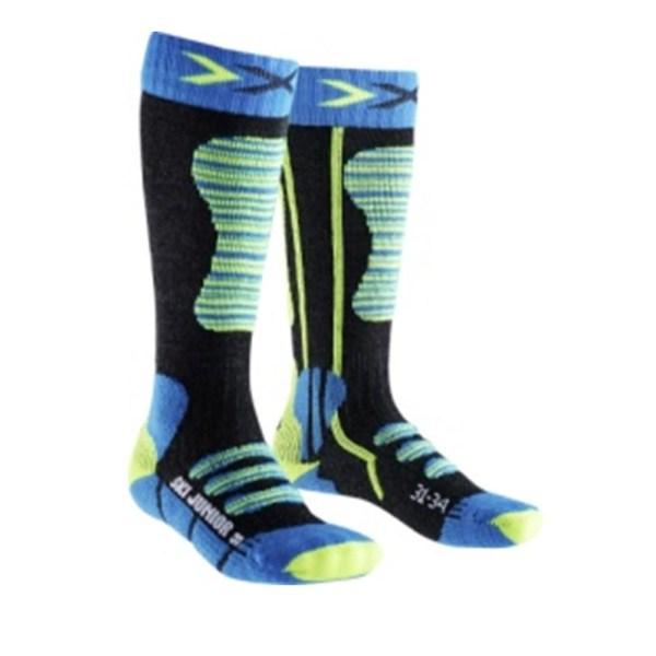skarpety dziecięce x-socks ski junior blue