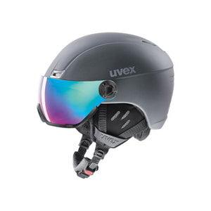 kask narciarski uvex hlmt 400 visor style 2019 titanium mat