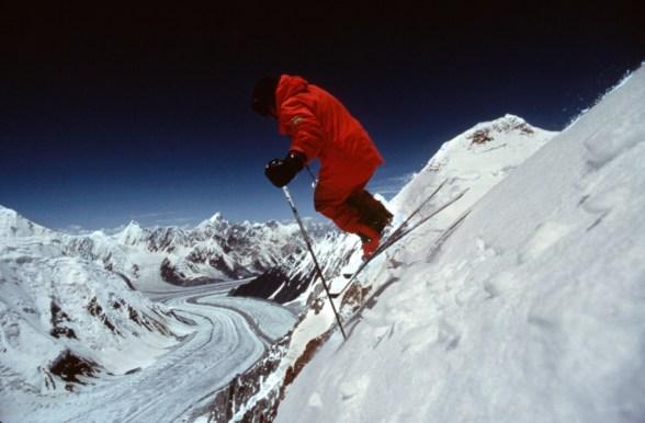 Sylvain Saudan am Hidden Peak (Gasherbrum I) – Archiv Sylvain Saudan