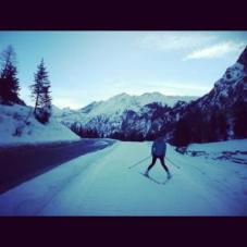 Learing how to cross country ski