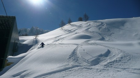 Off piste action