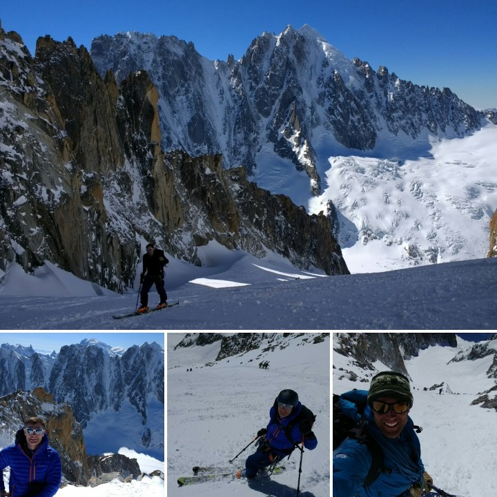 Great day with Simon on the #aiguilleduargentiere