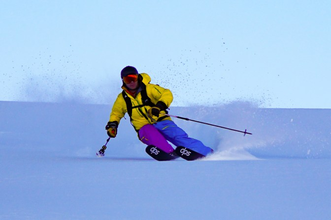 Powder skiing at Hutt - all the way to the end of the day.