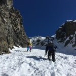 Ascending the Mt Peterson Coulior