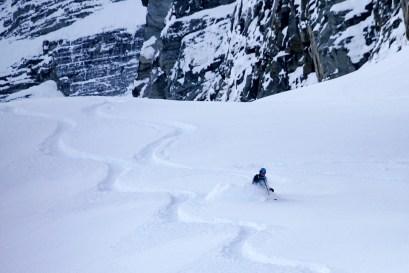 Glenn powder skiing near Sapphire.